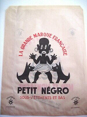 """Vintage French Shopping Bag """"The Great French Brand Petit Negro Underwear"""" *"""