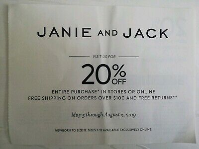 Coupon Janie and Jack: 20% off Entire Purchase **Exp 8/2/2019**