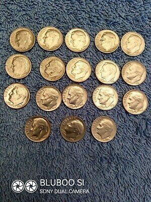 USA - Selection of 18 dimes