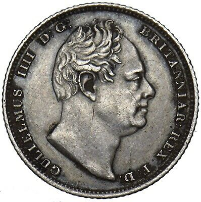 1831 Sixpence - William Iv British Silver Coin - V Nice