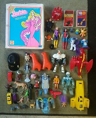 Huge Mixed lot of Modern & Vintage Toys, Action Figures - Barbie, Ghostbusters