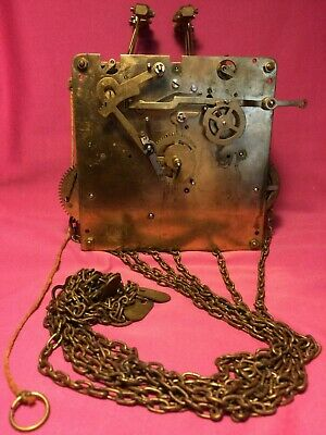 Hermle Clock Movement A 406-000 A Chains & Rods For Seth Thomas Seems Functional