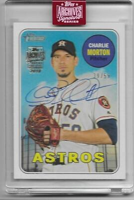 2019 Topps Archives Signature Charlie Morton Auto 2018 Heritage Astros #39/59