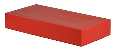 "HDPE Plastic Bar Stock - 2"" x 3"" x 12"" for Machining  - red color"