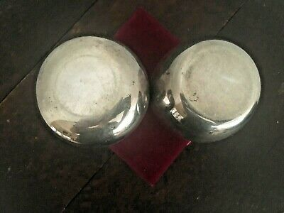Antique Sterling Silver Plated Eggnog Cups (Angel On Logo) - From Estate