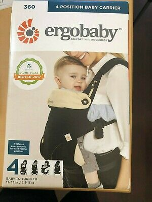 Ergobaby Carrier, 360 All Carry Positions Baby Carrier, Black/Camel