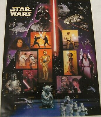 2007 STAR WARS Stamps Sheet USPS ($0.41 X 15) Lucasfilm Ltd.TM A9625