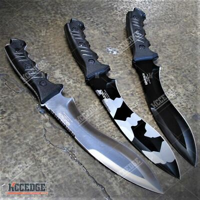 "13.5"" Tactical Fixed Blade Kukri Survival Hunting Army Camo Knife w/ Sheath"