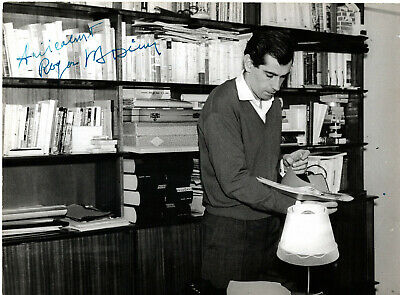 French Film Director ,Screenwriter, Author Roger Vadim , Signed Vintage Photo