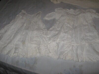 Antique Baby/Doll Dress w/Slip  and Christening Baptismal Gown