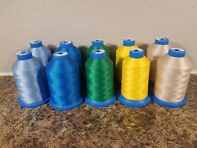 Isalon Trilobal Polyester Embroidery Machine Thread Lot of 10 (partial 7000m)