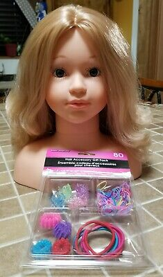 Theo Klein Mannequin Hair Styling Blonde Girl Doll Head with Extras