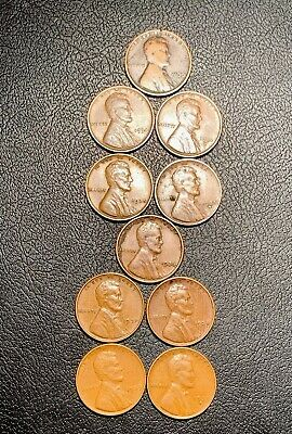 C111 1933 1934 PD 1935 Pd 1936 1937 1938 1939 PS LINCOLN Wheat CENT SET  1c