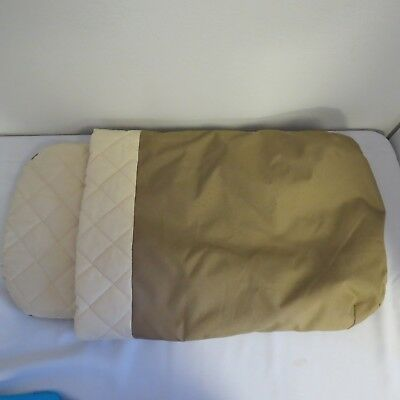 Bugaboo Frog Stroller Bassinet Mattress Beige Canvas Baby Carrycot Cover Fabric