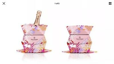 Veuve Clicquot Rose (Pink) Champagne Ice Bucket/Cooler  Cliq'up Origami Foldable