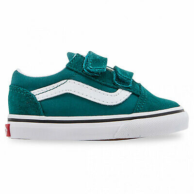 Vans Youth Old Skool Velcro Quetzal Green/White