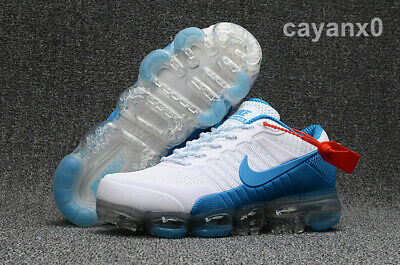 NIKE VaporMax Air Max 2018 men's running shoes  White and blue