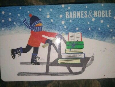 Barnes & Noble Used Collectible Gift Card NO VALUE Sleigh