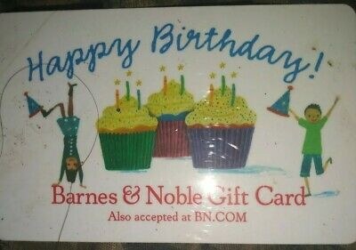 Barnes & Noble * Used Collectible Gift Card * NO VALUE Birthday Cupcakes