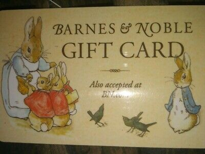 Barnes & Noble Used Collectible Gift Card NO VALUE Rabbit Family