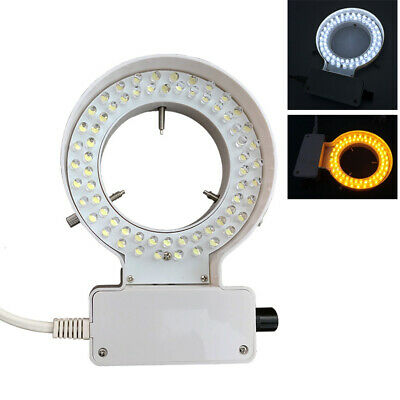 64 LED Ring Light Inner 70mm Brightness Adjustable for Stereo Microscope