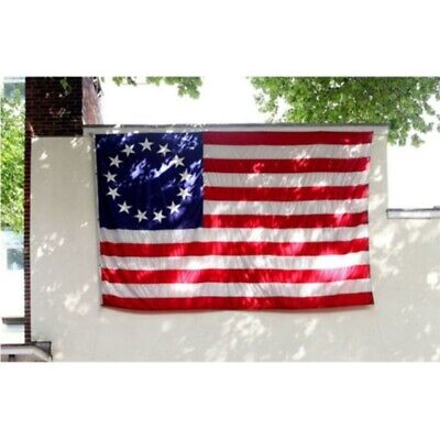 Betsy Ross 3x5ft Poly Banner Flag- 13 Stars 1776 American Colonial Fast Shipping
