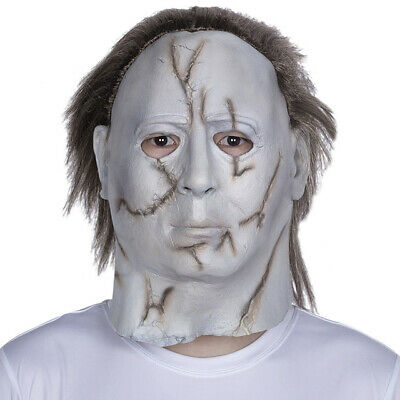 Halloween Michael Myers Mask Hot Movie Horror Cosplay Adult Latex Full Face Prop