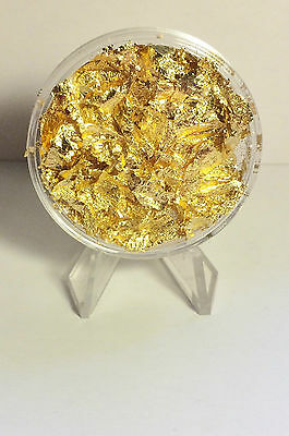Large 45 mm Capsule full of Gold Leaf/Flake (Awesome to collect)