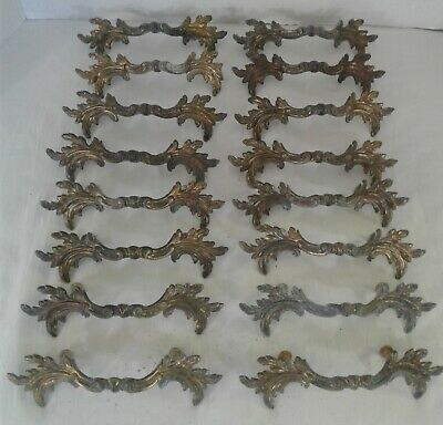 "Vintage Keeler K854 French Provincial Shabby Country Drawer Pulls 3"" Bore 6"""