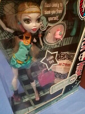 Monster High Lagoona Blue 2nd Wave Original Doll used open box