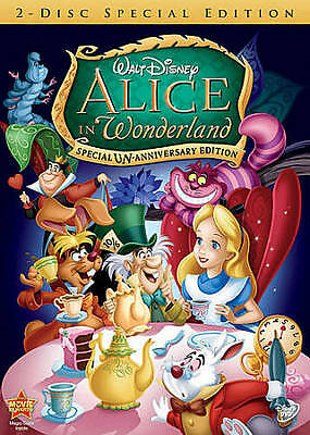 Alice in Wonderland DVD Version 2-Disc Set Walt Disney Special Edition Movie