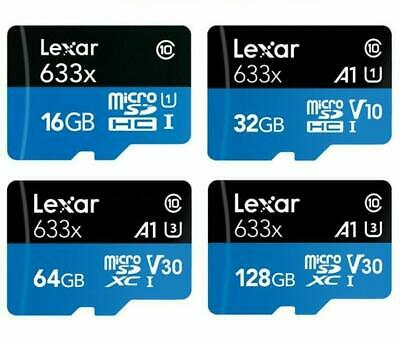 Lexar 32GB 64GB 128GB High Speed 633x A1 U3 V10~V30 micro SD SDXC Card