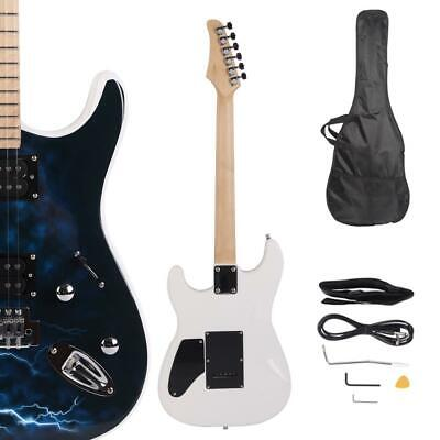 22 Frets Beginner Packages Lightning Black White Electric Guitar w/ Accessories