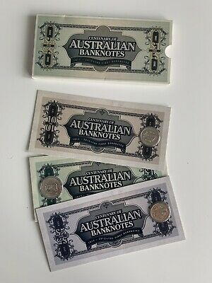 2013 20c and 50c Unc Three Coin Set - Centenary of Australian Banknotes