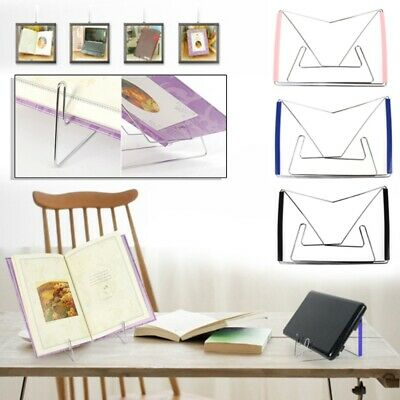Stainless Steel Hands Free Folding Tablet Book Reading Holder Stand Bracket Rack