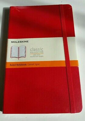 NEW SEALED Moleskine Ruled Notebook LARGE 21 x 13 cm Soft Cover Red