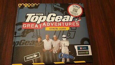 Woolworths Caltex TOP GEAR GREAT ADVENTURES sticker album - fully completed