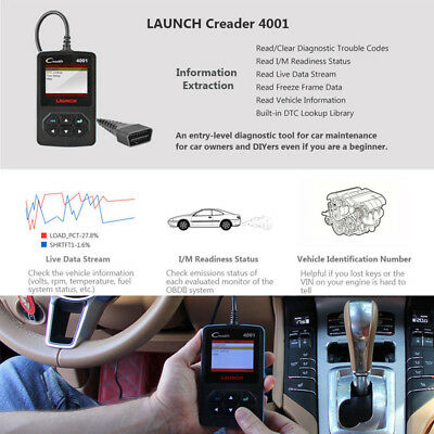 OBD Scanner Car Fault Code Reader OBD2 EOBD Engine Diagnostic Tool Auto Launch