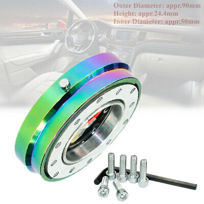 Universal Aluminum 6-hole Car SUV Steering Wheel Quick Release Short Hub Adapter