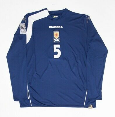 Scotland 05-07 Diadora Match Worn Issue Home Shirt David Weir Germany 2006 Patch