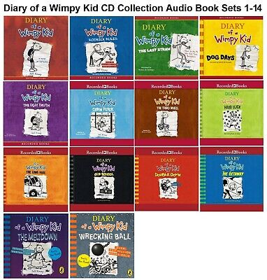 Diary of a Wimpy Kid Audio Book Set 1-12