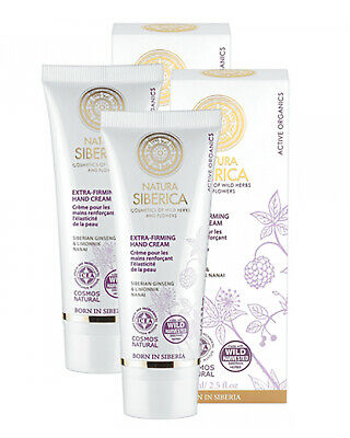 Natura Siberica Extra-Firming Hand Cream 75ml TWIN PACK