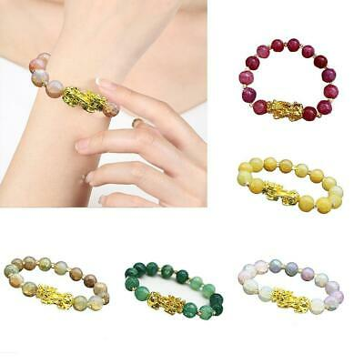 Pixiu Chinese Good Lucky Charm Feng Shui Wealth Bracelets Jade Jewelry