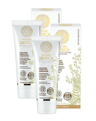 Natura Siberica Taiga Daily Protection Hand Cream 75ml-Twin Pack