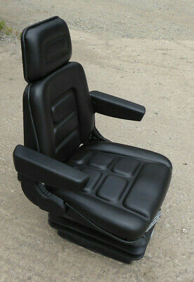 Replacement TRACTOR Seat : Universal : Sprung / Adjustable Base With Armrests