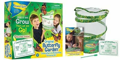 Insect Lore Butterfly Garden Hatching Kit Breed Your Own Butterflies Kids Gift