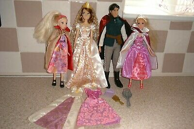 Disney Tangled Dolls With Rapunzel Bride & Flynn Bundle