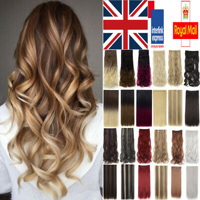Like Real Natural Straight/Curly/Wavy Full Head Clip In Human Hair Extensions