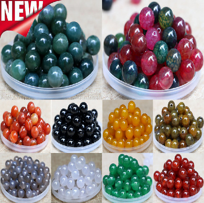 20Pcs 10mm Round Spacer Loose Beads Jewelry Making Wholesale Natural Gemstone