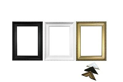 Wide Ornate Picture Shabby Chic Frame Picture Frame Photo frames Gold ,White